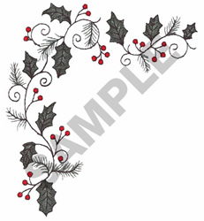 HOLLYBERRY VINE embroidery design