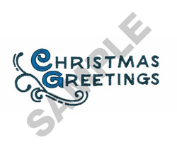 CHRISTMAS GREETINGS embroidery design