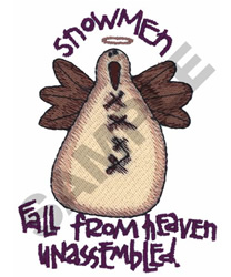 SNOWMEN FALL FROM HEAVEN embroidery design