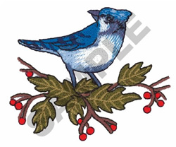 CHRISTMAS BLUE JAY embroidery design
