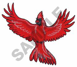CARDINAL ON FLIGHT embroidery design