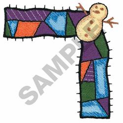 SNOWMAN BORDER embroidery design