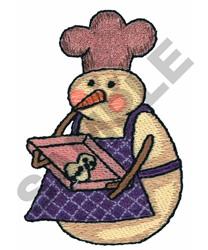SNOWMAN BAKER 2 embroidery design
