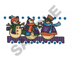 SNOWMEN CAROLING embroidery design