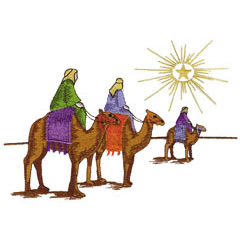 3 WISE MEN embroidery design