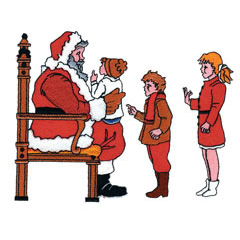 SANTA AND KIDS embroidery design