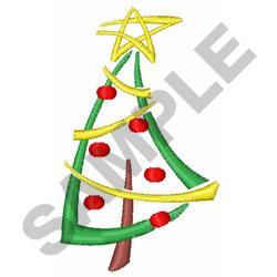 MODERN CHRISTMAS TREE embroidery design
