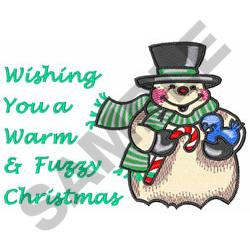 WARM AND FUZZY WISHES embroidery design