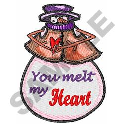 YOU MELT MY HEART embroidery design