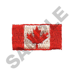 SMALL CANADIAN FLAG embroidery design