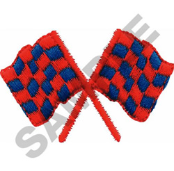 SMALL CHECKERED FLAGS embroidery design