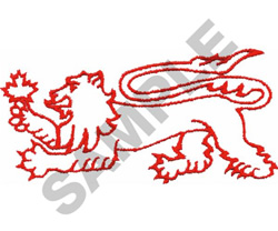 HERALDIC LION EMBLEM embroidery design