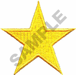 2.25 STAR embroidery design
