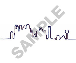 DALLAS SKYLINE embroidery design