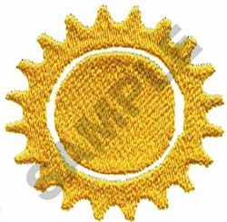 SUN EMBLEM embroidery design