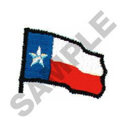 STATE FLAG OF TEXAS embroidery design