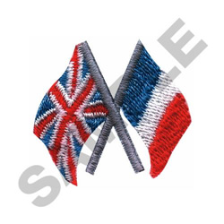 ENGLAND & FRANCE embroidery design