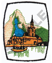 MOUNTAIN SCENERY embroidery design