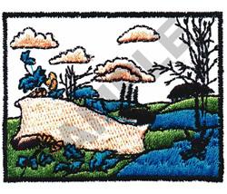HILLSIDE SCENERY embroidery design