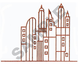SKYSCRAPERS embroidery design