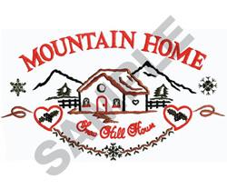 MOUNTAIN HOME embroidery design