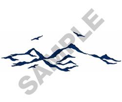 MOUNTAINS & BIRDS embroidery design