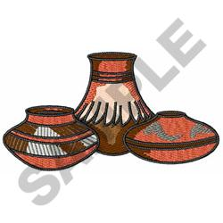 NATIVE AMERICAN POTTERY embroidery design
