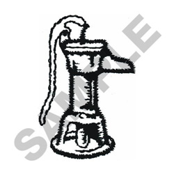 WATER PUMP embroidery design