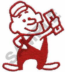 DRYWALL MAN embroidery design