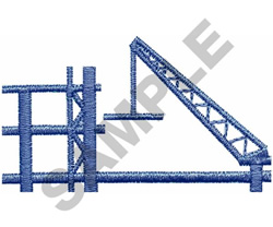 CONSTRUCTION CRANE embroidery design