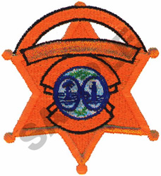 BADGE embroidery design
