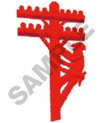 TELEPHONE LINEMAN embroidery design