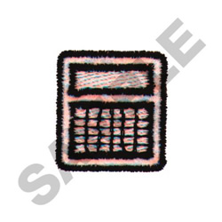 CALCULATOR embroidery design