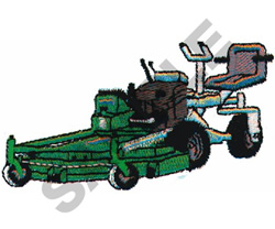RIDING LAWN MOWER embroidery design