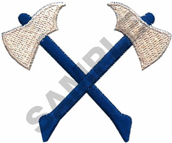 CROSSED AXES embroidery design