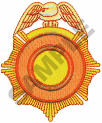 OFFICIAL BADGE embroidery design