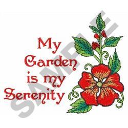 GARDEN IS MY SERENITY Embroidery Designs Machine
