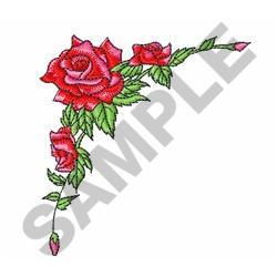ROSES CORNER BORDER embroidery design