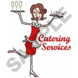 CATERING SERVICES embroidery design