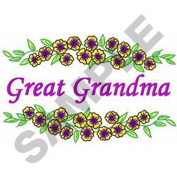 GREAT GRANDMA embroidery design