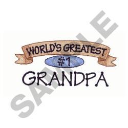 WORLDS GREATEST GRANDPA embroidery design