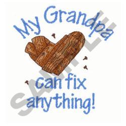 MY GRANDPA CAN FIX embroidery design