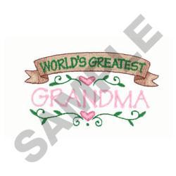 WORLDS GREATEST GRANDMA embroidery design