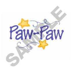 PAW PAW embroidery design