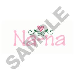 NANA embroidery design