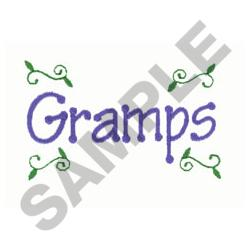 GRAMPS embroidery design