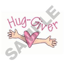 HUG GIVER embroidery design