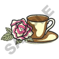 COFFEE AND ROSE embroidery design