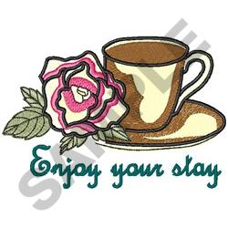 ENJOY YOUR STAY embroidery design