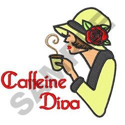 CAFFEINE DIVA embroidery design